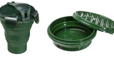 Pote e Squeeze de silicone com tampa – Guepardo